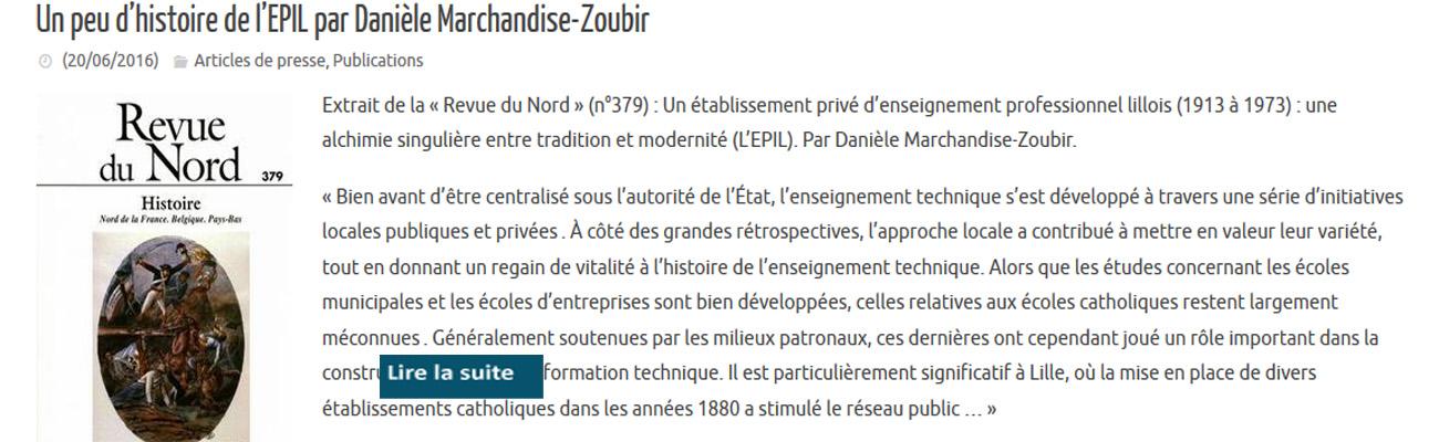 Un peu d'histoire de l'EPIL par Danièle Marchandise-Zoubir