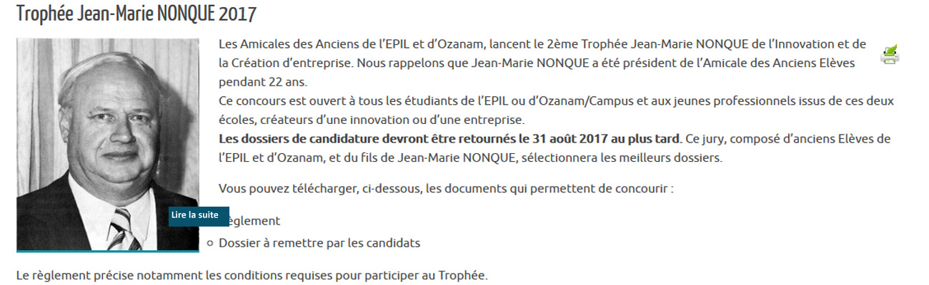 Trophée Jean-Marie NONQUE 2017