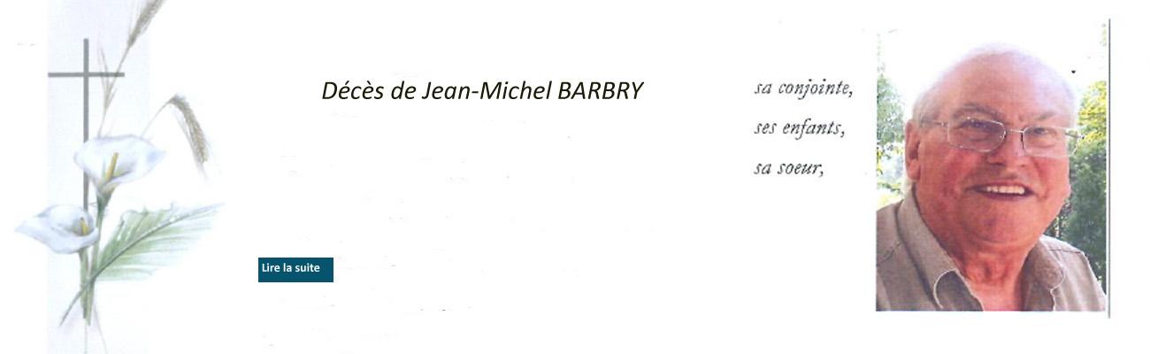 Décès de Jean-Michel BARBRY de la 44ème promotion