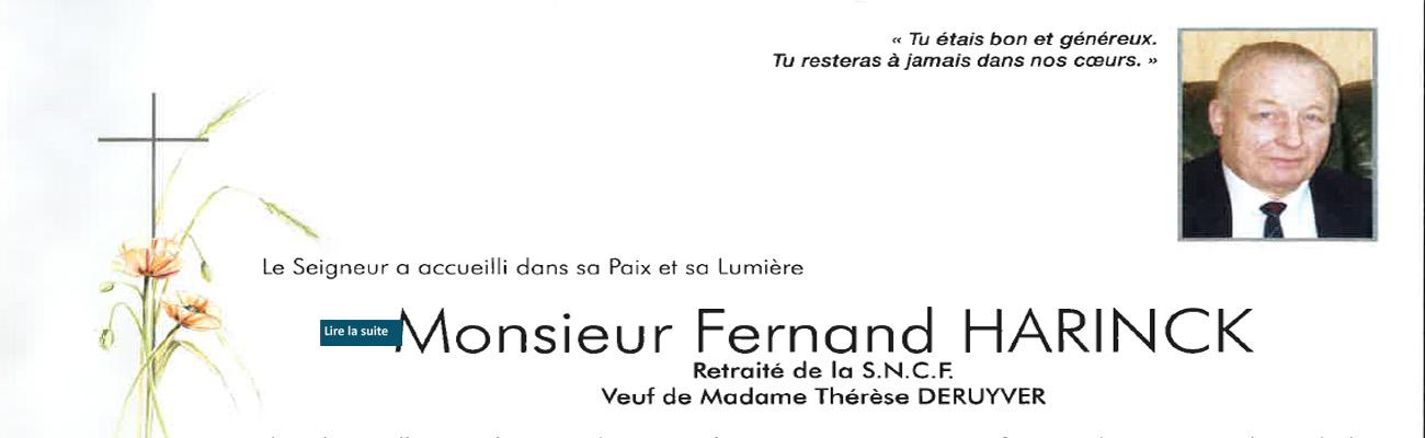 Décès de Fernand HARINCK de la 32ème promotion