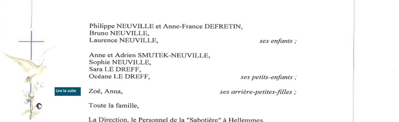 Décès d'Alfred Neuville de la 27ème promotion