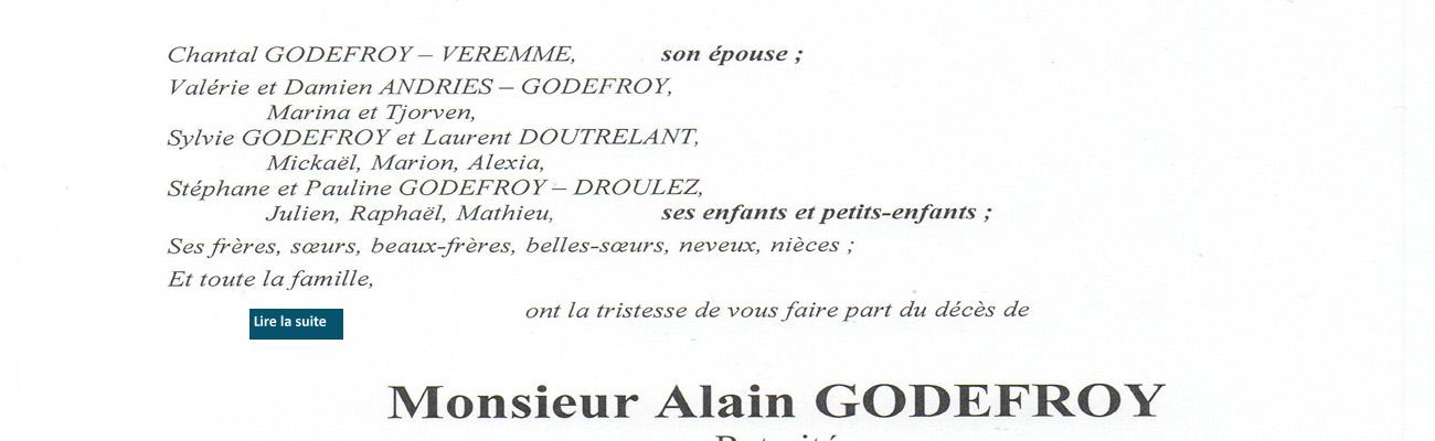 Décès d'Alain GODEFROY (49ème promotion) le 12 janvier 2021