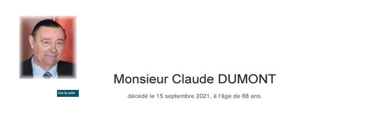 Décès de Claude DUMONT, ancien professeur à l'EPIL